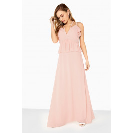 c9399deb967 Girls on Film Frill Front Detail Chiffon Strappy Maxi - Dresses - Women